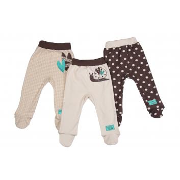 Малыши, Комплект ползунков 3 шт Lucky Child (коричневый)685223, фото