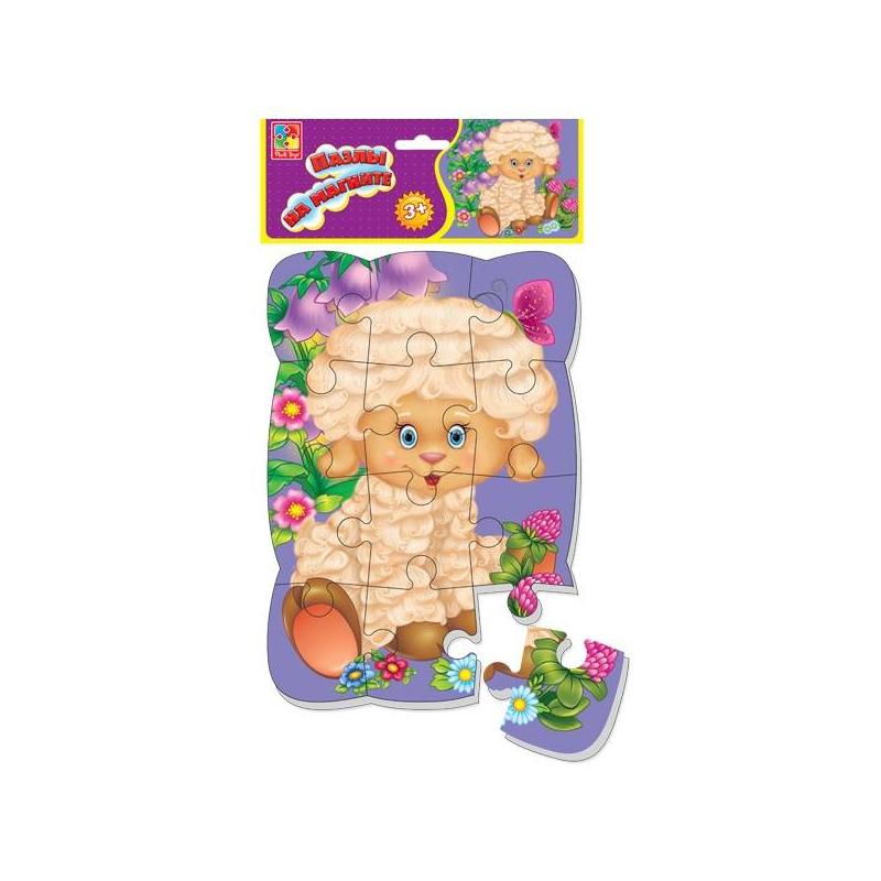 Vladi Toys Пазл на магните Овечка 12 деталей vladi toys vladi toys пазл ферма