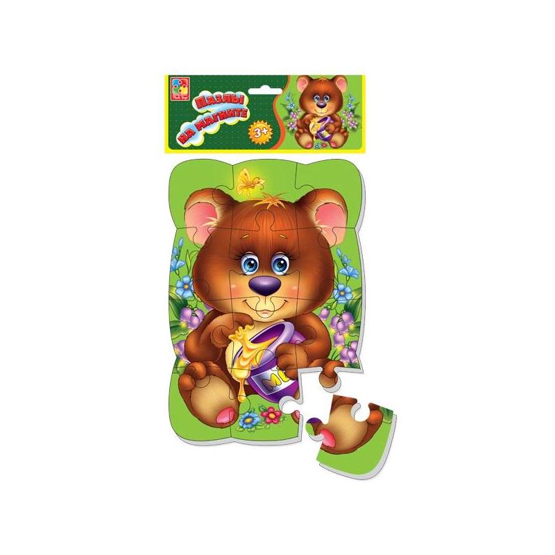 Vladi Toys Пазл на магните Медвежонок 12 деталей vladi toys vladi toys пазл ферма