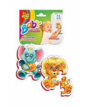 Пазлы на магните Зоопарк 9 деталей Vladi Toys