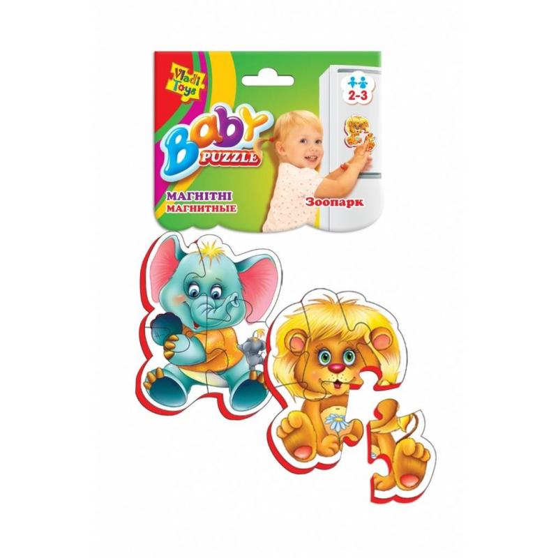 Vladi Toys Пазлы на магните Зоопарк 9 деталей мозаика vladi toys мозаика магнитная львенок и жираф 67 деталей