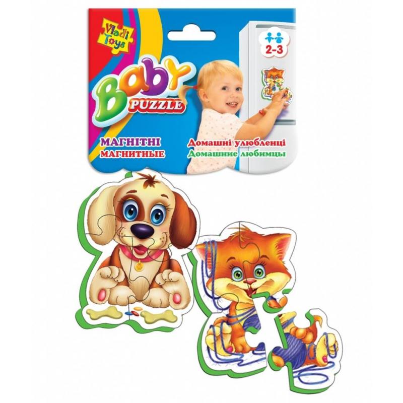 Vladi Toys Пазлы на магните Домашние любимцы 7 деталей магнитная игра развивающая vladi toys домашние любимцы