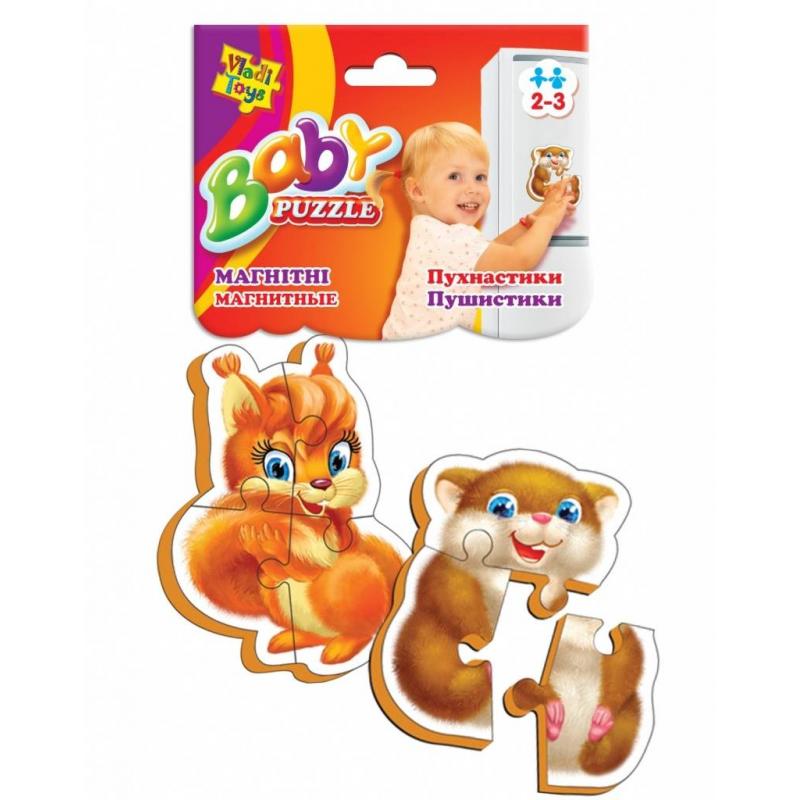Vladi Toys Пазлы на магните Пушистики 7 деталей vladi toys магнитная мозаика львенок жираф 67 деталей vladi toys