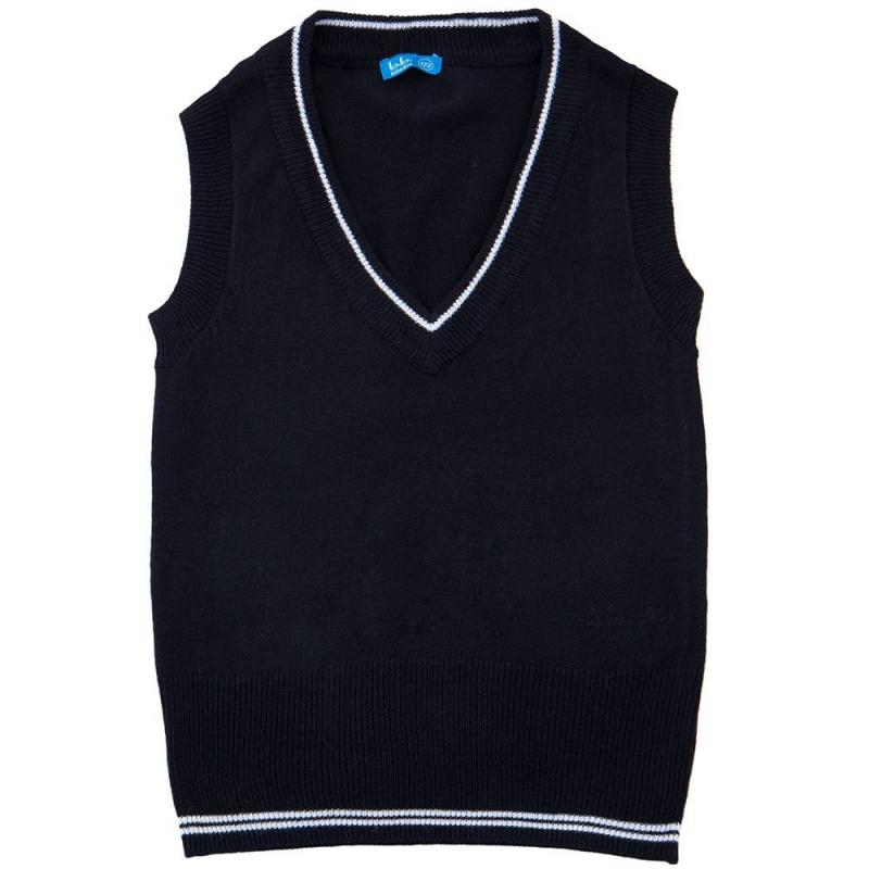ЖилетЖилет чёрногоцвета марки Button Blue для девочек.<br>Трикотажный жилет с V-образным вырезомдекорированвышивкой с названием бренда и тонкимибелыми полосками на окантовке.<br><br>Размер: 9 лет<br>Цвет: Черный<br>Рост: 134<br>Пол: Для девочки<br>Артикул: 636950<br>Бренд: Россия<br>Страна производитель: Китай<br>Сезон: Всесезонный<br>Состав: 15% Шерсть, 20% Нейлон, 65% Акрил