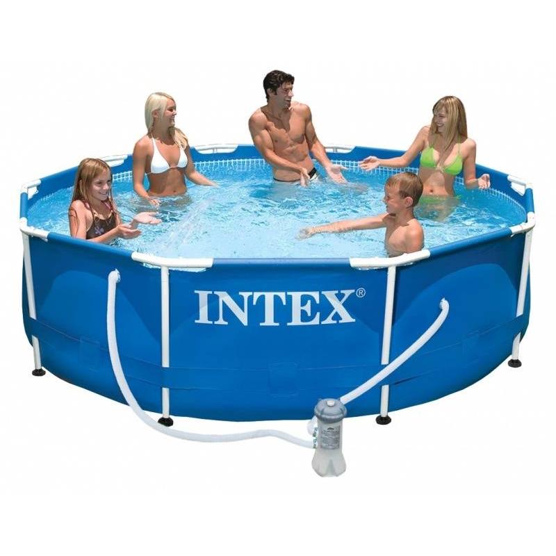 Бассейн каркасный Metal Frame PoolБассейн каркасный Metal Frame Pool марки Intex.<br>Каркасный бассейн круглой формы легко устанавливается c применением минимальных технических средств. Процесс сборки до наполнения бассейна водой занимает около часа. Для установки бассейн не нуждается в специальной подготовке грунта, годится любая, освобожденная от посторонних предметов, ровная горизонтальная поверхность.<br>Прочность бассейна обуславливается его металлическим каркасом, благодаря которому бассейн выдерживает большие нагрузки. Поддержанию формы способствует лента из полипропилена, «опоясывающая» весь бассейн.<br>Запатентованная технология SUPER-TOUGH обеспечивает надежность и долговечность бассейна. Стенки бассейна изготавливаются из трех отдельных слоев: два слоя сделаны из плотного ПВХ, стойкого к ударам, растягиваниям, стираниям и солнечному свету, один слой - из особо прочного полиэстера, укрепляющего стенки бассейна.<br>В комплект входитDVD-диск с инструкциями по установке и фильтр-насос.<br>Предназначен для детей от 6 лет.<br><br>Размер бассейна: 305х76<br>Пол: Не указан<br>Артикул: 682091<br>Страна производитель: Китай<br>Размер: от 6 лет