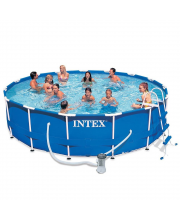 Бассейн каркасный Metal Frame Pool 457х91 Intex