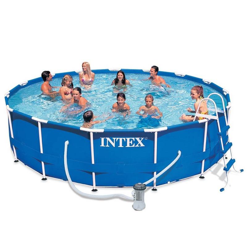 Бассейн каркасный Metal Frame Pool 457х91Бассейн каркасный Metal Frame Pool 457х91 марки Intex.<br>Каркасный бассейн круглой формы легко устанавливается c применением минимальных технических средств. Процесс сборки до наполнения бассейна водой занимает около часа. Для установки бассейн не нуждается в специальной подготовке грунта, годится любая, освобожденная от посторонних предметов, ровная горизонтальная поверхность.<br>Прочность бассейна обуславливается его металлическим каркасом, благодаря которому бассейн выдерживает большие нагрузки. Поддержанию формы способствует лента из полипропилена, «опоясывающая» весь бассейн.<br>Запатентованная технология SUPER-TOUGH обеспечивает надежность и долговечность бассейна. Стенки бассейна изготавливаются из трех отдельных слоев: два слоя сделаны из плотного ПВХ, стойкого к ударам, растягиваниям, стираниям и солнечному свету, один слой - из особо прочного полиэстера, укрепляющего стенки бассейна.<br>В комплект входитDVD-диск с инструкциями по установке, фильтр-насос, лестница, настил и тент.<br>Предназначен для детей от 6 лет.<br><br>Размер бассейна: 457х91<br>Пол: Не указан<br>Артикул: 682096<br>Страна производитель: Китай<br>Размер: от 6 лет