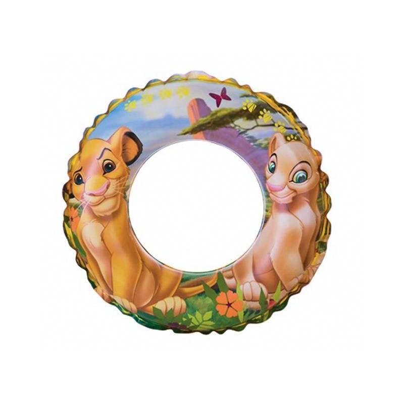 Intex Надувной круг для плавания Король Лев 61 см intex монстр шина с ручками 114 см арт 56268