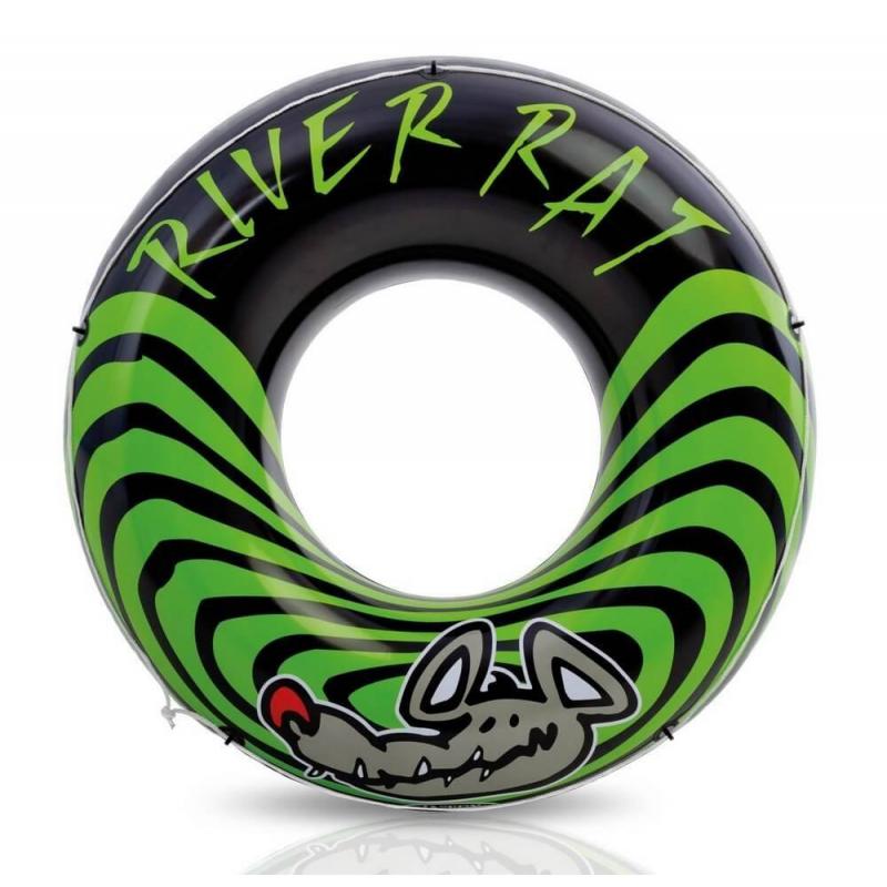 Intex Надувной круг для плавания River Rat 122 см intex матрас надувной для плавания