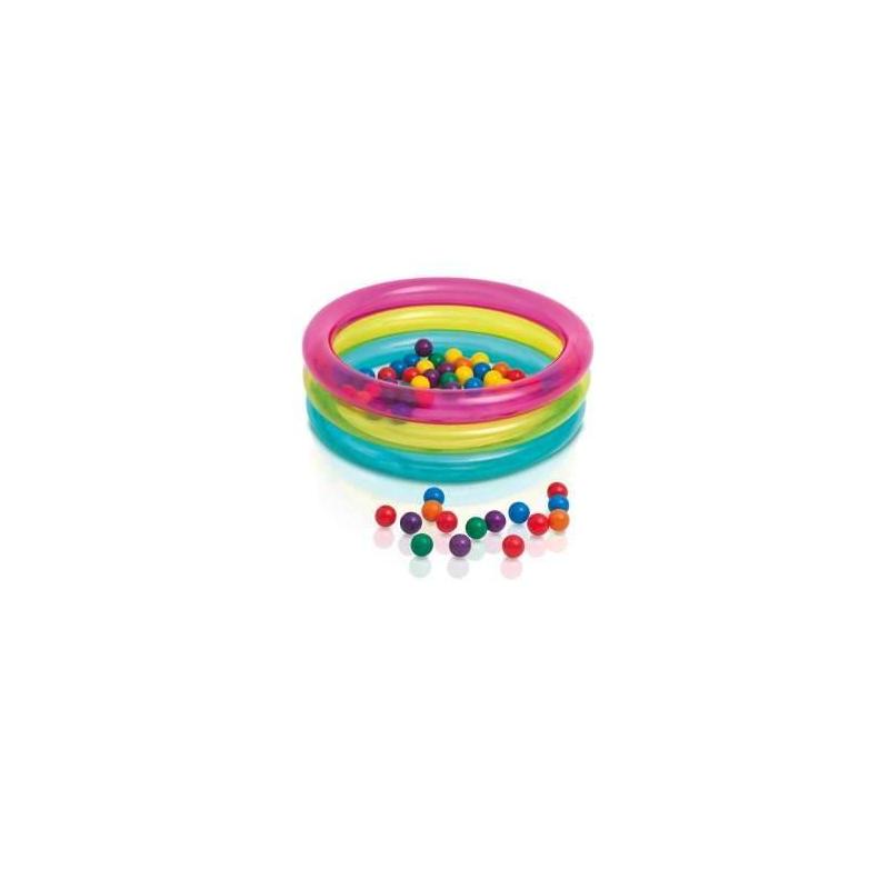Intex Надувной бассейн с шариками Классический intex монстр шина с ручками 114 см арт 56268