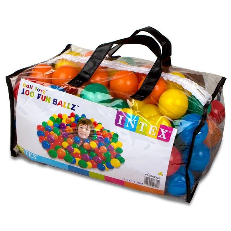 Intex Набор мячей для сухого бассейна 100 шт средство для чистки бассейна intex 10440