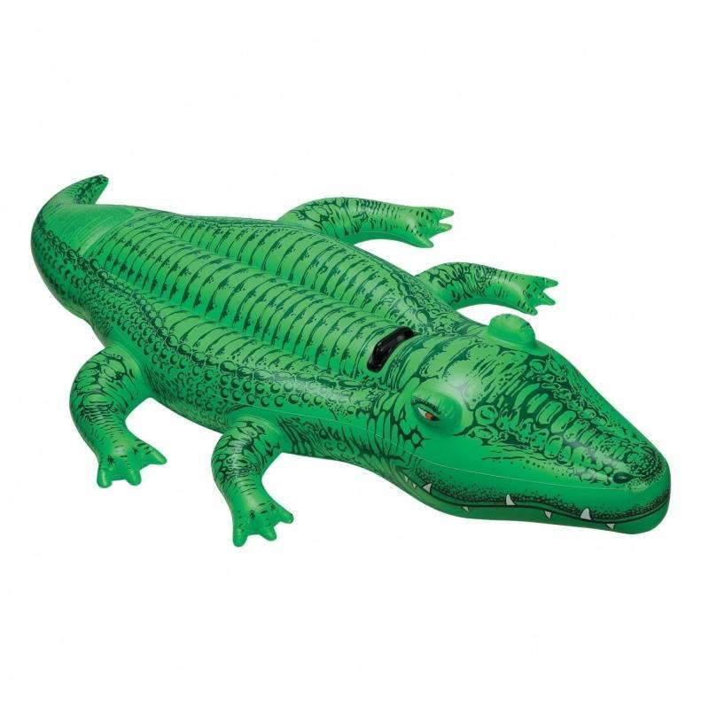 Intex Надувная игрушка Крокодил надувная игрушка наездник самолеты 132х130см от 3 лет intex