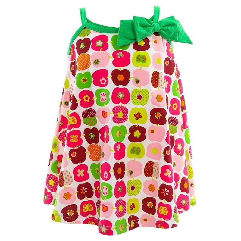 ПлатьеПлатьемалиновогоцвета из коллекции Sweet Apple марки Sweet Berry.<br>Платьевыполнено из хлопка с добавлением эластана. Модель декорирована изображениями фруктов, милым бантиком и отделкой с принтом в горошек салатового цвета. На спинке имеется пуговица для удобства переодевания малышки.<br><br>Размер: 18 месяцев<br>Цвет: Малиновый<br>Рост: 86<br>Пол: Для девочки<br>Артикул: 688693<br>Страна производитель: Китай<br>Сезон: Весна/Лето<br>Состав: 95% Хлопок, 5% Эластан<br>Бренд: Италия<br>Вид застежки: Пуговицы