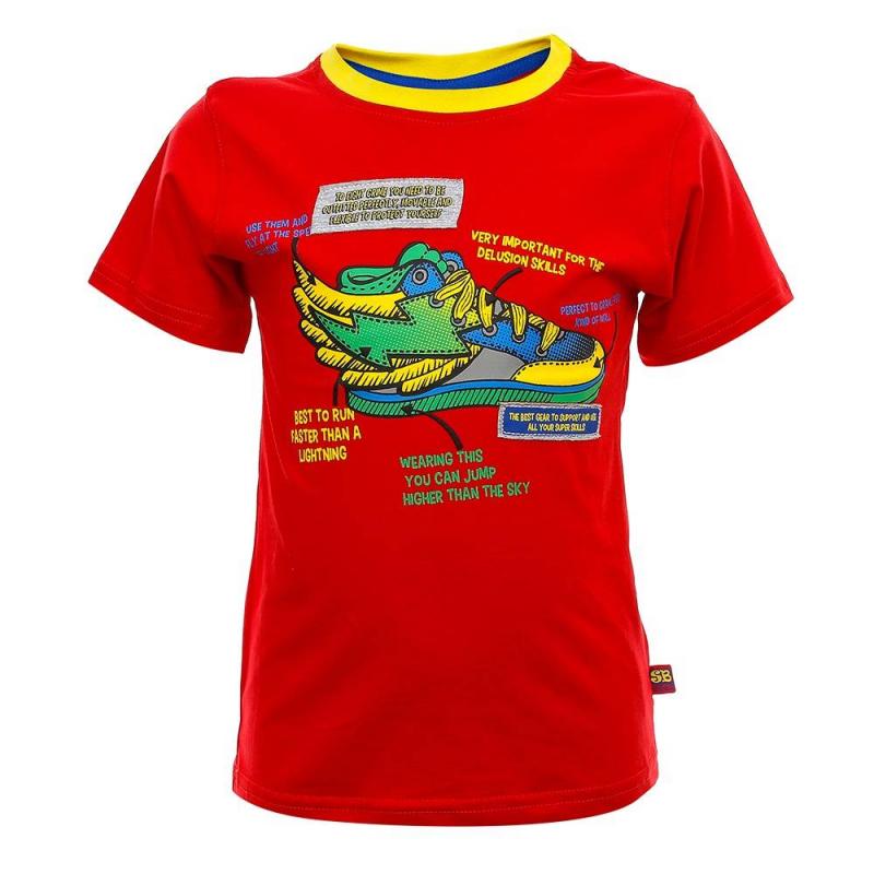 ФутболкаФутболкакрасногоцвета из коллекции Super Hero марки Sweet Berry для мальчиков.<br>Яркая футболка с коротким рукавом, выполненная из хлопка с добавлением эластана, декорирована стильным принтом.<br><br>Размер: 18 месяцев<br>Цвет: Красный<br>Рост: 86<br>Пол: Для мальчика<br>Артикул: 686966<br>Бренд: Италия<br>Страна производитель: Китай<br>Сезон: Весна/Лето<br>Состав: 95% Хлопок, 5% Эластан