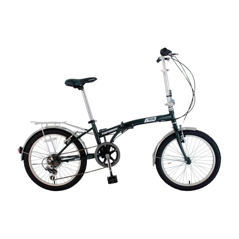 Купить Велосипед двухколесный складной Eco, Top Gear, Зеленый, от 6 лет, Не указан, 682223, Китай