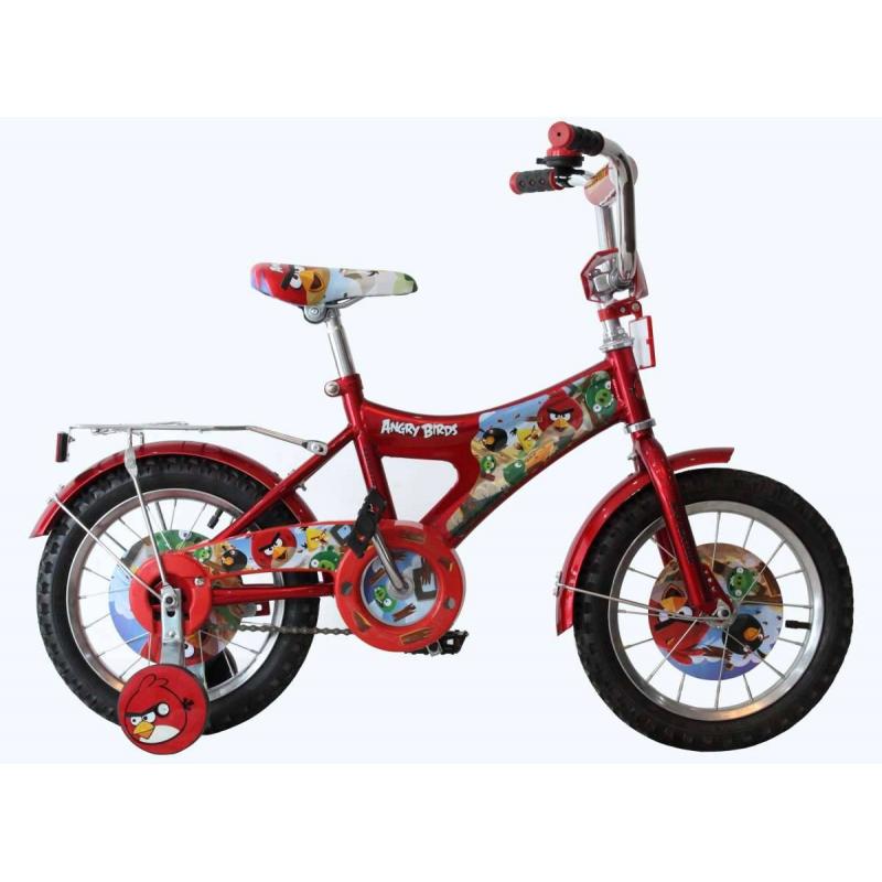 Велосипед двухколесный Angry BirdsВелосипед двухколесный Angry Birdsкрасногоцвета марки Navigator.<br>Детский двухколесный велосипедс ярким дизайном по мотивам популярного мультфильма Angry Birds оснащён широкими страховочными колёсами.<br>Характеристики:<br>- диаметр колес: 14;- широкие страховочные колеса с декоративными вставками;- цветные вставки в колесах;- односоставной шатун;- стальной обод.<br>Вес: 10,5 кг.<br>Предназначен для детей от 4 лет.<br><br>Цвет: Красный<br>Возраст от: 4 года<br>Пол: Не указан<br>Артикул: 682241<br>Страна производитель: Китай<br>Лицензия: Angry birds<br>Размер: от 4 лет