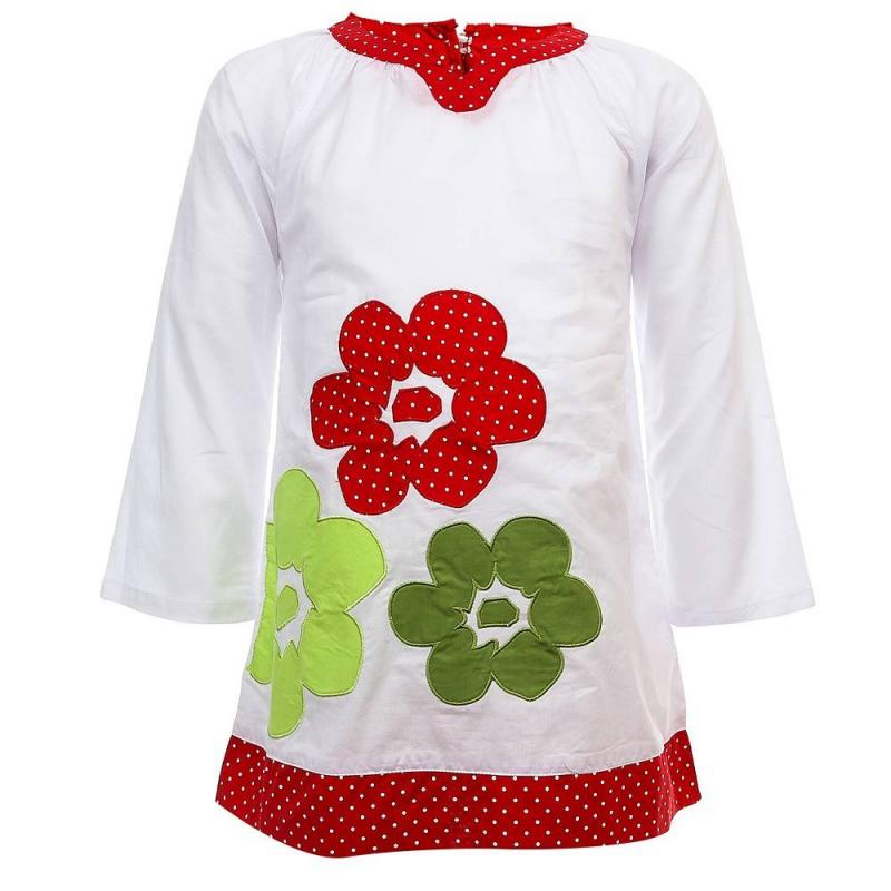 ПлатьеПлатьебелогоцвета из коллекции Time Flowers марки Sweet Berry.<br>Пляжное платье выполнено из натурального хлопка и декорировано цветочной аппликацией, а также принтом в белый горошек. Модель выгодно подчеркнута отделкой красного цвета.<br><br>Размер: 7 лет<br>Цвет: Белый<br>Рост: 122<br>Пол: Для девочки<br>Артикул: 687054<br>Бренд: Италия<br>Страна производитель: Китай<br>Сезон: Весна/Лето<br>Состав: 100% Хлопок