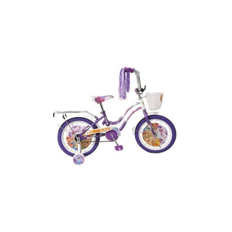 Велосипед двухколесный WINXВелосипед двухколесный WINX фиолетовогоцвета марки Navigator для девочек.<br>Детский двухколесный велосипедс ярким дизайном в стиле популярного мультфильма WINX Club украшен мишурой на руле.Модель дополнена задним пластиковым креслом для куклы, которое, при необходимости, быстро снимается.<br>Характеристики:<br>- диаметр колес: 16;- широкие страховочные колеса с декоративными вставками;- цветные вставки в колесах;- односоставной шатун;- багажник;- звонок;- мягкая накладка на руле.<br>Вес: 11, 8 кг.<br>Предназначен для детей от 5 лет.<br><br>Цвет: Фиолетовый<br>Возраст от: 5 лет<br>Пол: Для девочки<br>Артикул: 682251<br>Страна производитель: Китай<br>Лицензия: Winx Club<br>Размер: от 5 лет