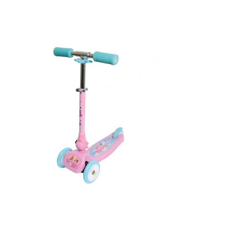 1Toy Самокат Красотка 1 toy кукольный домик красотка колокольчик с мебелью 29 деталей