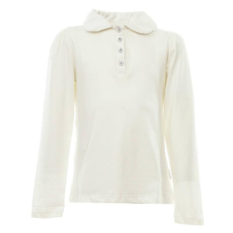 БлузкаБлузка молочногоцвета из коллекции School collection марки Luminoso для девочек.<br>Однотонная блуза с длинным рукавом, выполненная из хлопка с добавлением эластана, дополнена красивыми пуговицами, а такженежнымотложным воротничком из шифона.Модель выгодно подчеркнет и дополнит школьный образ ребенка.<br><br>Размер: 13 лет<br>Цвет: Бежевый<br>Рост: 158<br>Пол: Для девочки<br>Артикул: 686017<br>Бренд: Италия<br>Страна производитель: Китай<br>Сезон: Всесезонный<br>Состав: 95% Хлопок, 5% Эластан