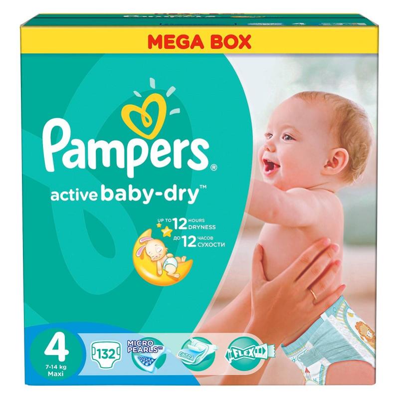 Pampers Подгузники Active Baby Maxi 7-14 кг 132 шт