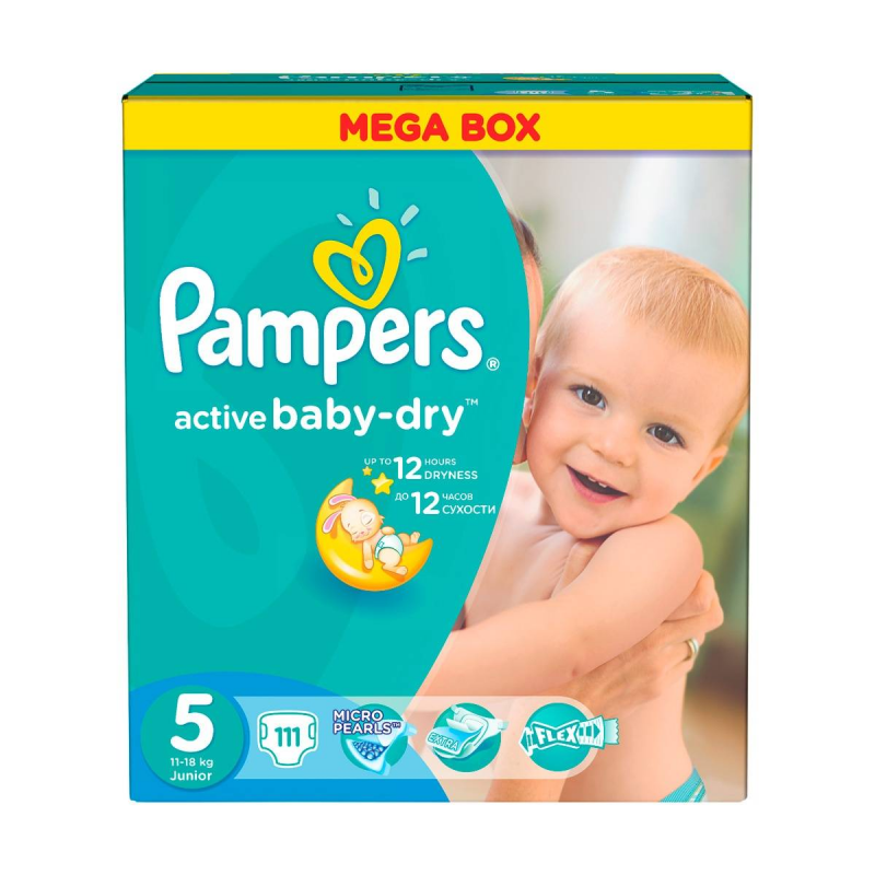 Pampers Подгузники Active Baby Junior 11-18 кг 111 шт