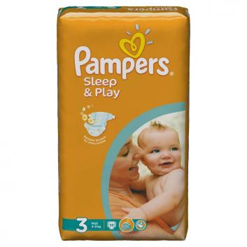 Гигиена, Подгузники Sleep&Play Midi 4-9 кг 58 шт Pampers 702483, фото