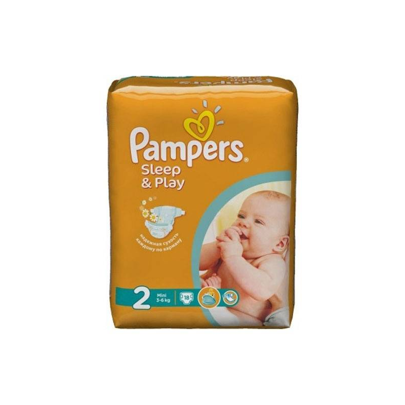 Pampers Подгузники Sleep&Play Mini 3-6 кг 18 шт
