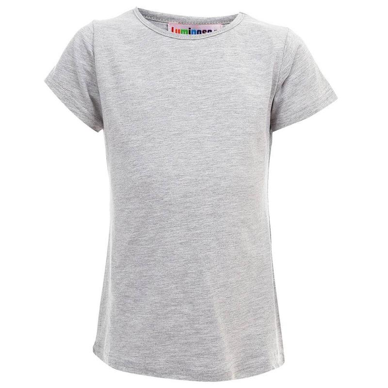 ФутболкаФутболкасерогоцвета из коллекции School collection марки Luminoso для девочек.<br>Однотонная базовая футболка с коротким рукавом выполнена из хлопка с добавлением эластана.<br><br>Размер: 9 лет<br>Цвет: Серый<br>Рост: 134<br>Пол: Для девочки<br>Артикул: 686940<br>Бренд: Италия<br>Страна производитель: Китай<br>Сезон: Весна/Лето<br>Состав: 95% Хлопок, 5% Эластан