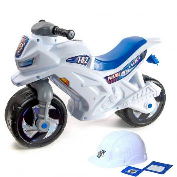 Спорт и отдых, Каталка мотоцикл Racer RZ 1 Полиция со шлемом RT 650784, фото