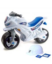 Каталка мотоцикл Racer RZ 1 Полиция со шлемом RT