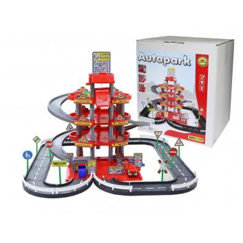 Игрушки, Конструктор Паркинг 4 уровня Wader (красный)650792, фото