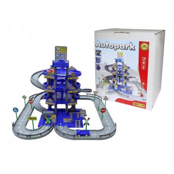 Игрушки, Конструктор Паркинг 4 уровня Wader (синий), фото
