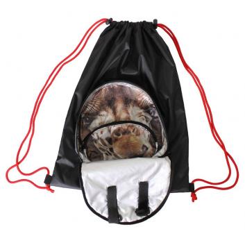 Спорт и отдых, Мешок-рюкзак складной Жираф RT (черный)650800, фото
