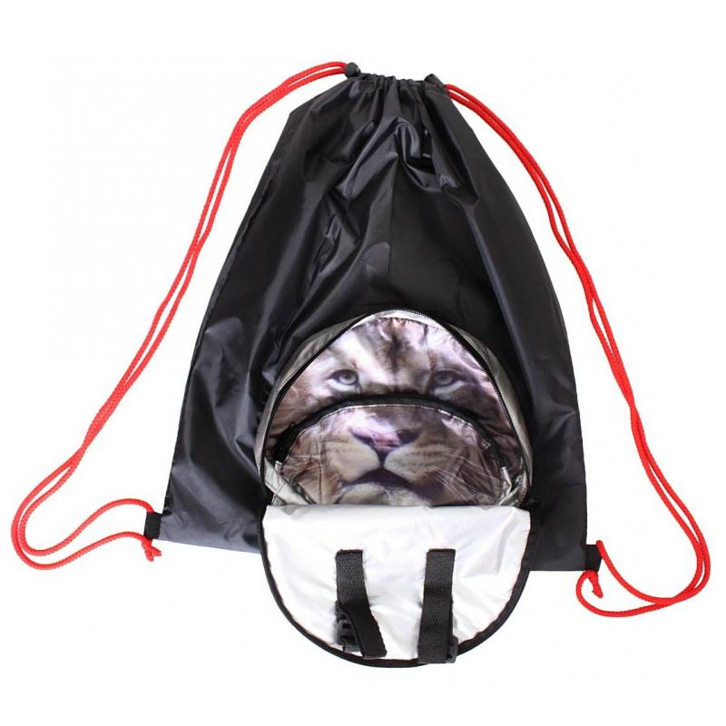 Мешок-рюкзак складной Лев