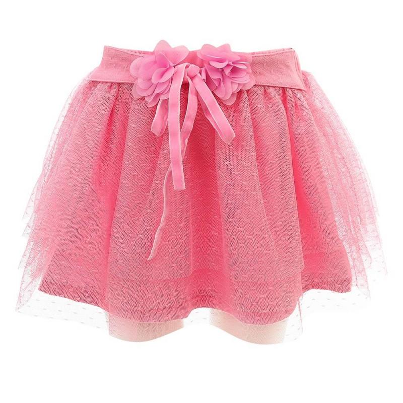 ЮбкаЮбка розовогоцвета из коллекции Little Birds марки Sweet Berry.<br>Пышная юбка на хлопковой подкладке дополнена слоями из фатина. Широкий пояс на резинке декорирован объемными цветами и велюровой тесьмой.<br><br>Размер: 12 месяцев<br>Цвет: Розовый<br>Рост: 80<br>Пол: Для девочки<br>Артикул: 688032<br>Страна производитель: Китай<br>Сезон: Весна/Лето<br>Состав: 100% Полиэстер<br>Состав подкладки: 95% Хлопок, 5% Эластан<br>Бренд: Италия
