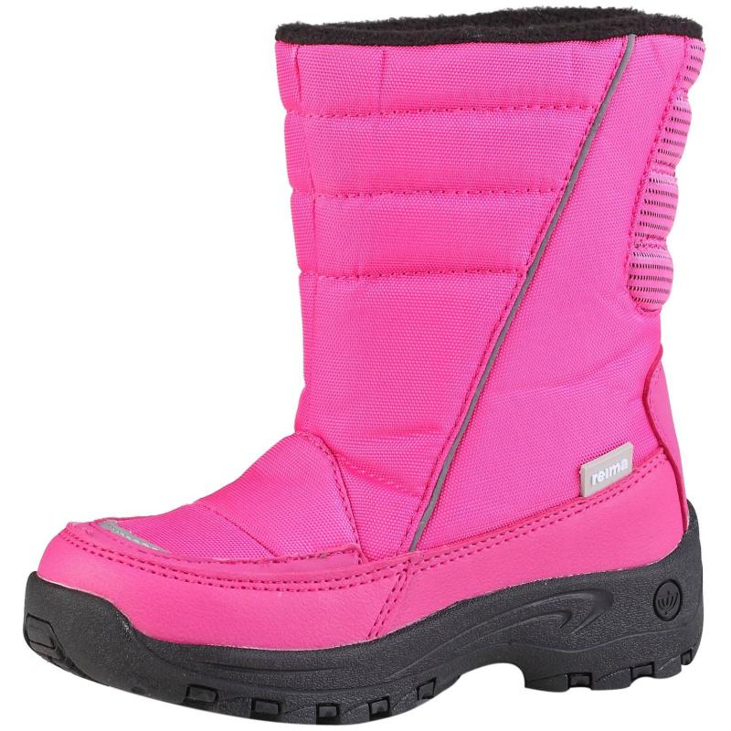 СапогиЗимние сапоги розового цвета марки REIMA для девочек. Теплые непромокаемые сапожки идеально защищают от влаги. Мягкаяфлисовая подкладка сохраняет тепло, резиновая подошва предотвращает скольжение. Сапожки без застежек легко надевать и снимать.<br><br>Размер: 31<br>Цвет: Малиновый<br>Пол: Для девочки<br>Артикул: 603159<br>Страна производитель: Китай<br>Сезон: Осень/Зима<br>Материал верха: Полиэстер, Полиуретан<br>Материал подкладки: Текстиль<br>Материал стельки: Текстиль<br>Материал подошвы: Резина<br>Бренд: Финляндия<br>Температура: от 0° до -20°
