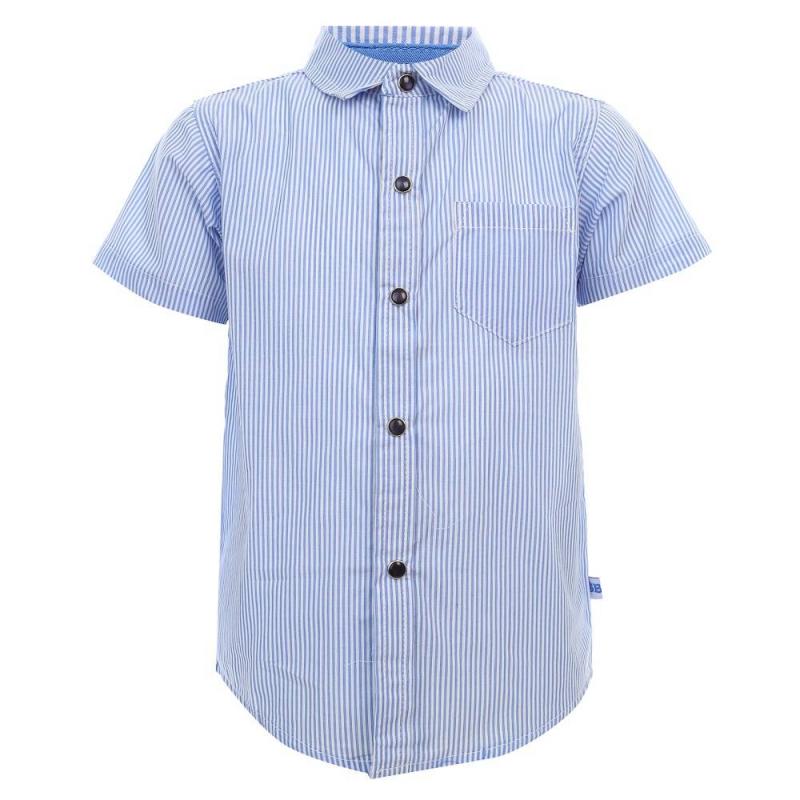 РубашкаРубашка голубогоцвета из коллекции Base марки Sweet Berry для мальчиков.<br>Стильная рубашка с коротким рукавом выполнена из натурального хлопка. Модель с отложным воротничком декорирована принтом в полоску, а также дополнена нагрудным кармашком. Рубашка застегивается на удобные кнопки.<br><br>Размер: 6 лет<br>Цвет: Голубой<br>Рост: 116<br>Пол: Для мальчика<br>Артикул: 687288<br>Бренд: Италия<br>Страна производитель: Китай<br>Сезон: Весна/Лето<br>Состав: 100% Хлопок