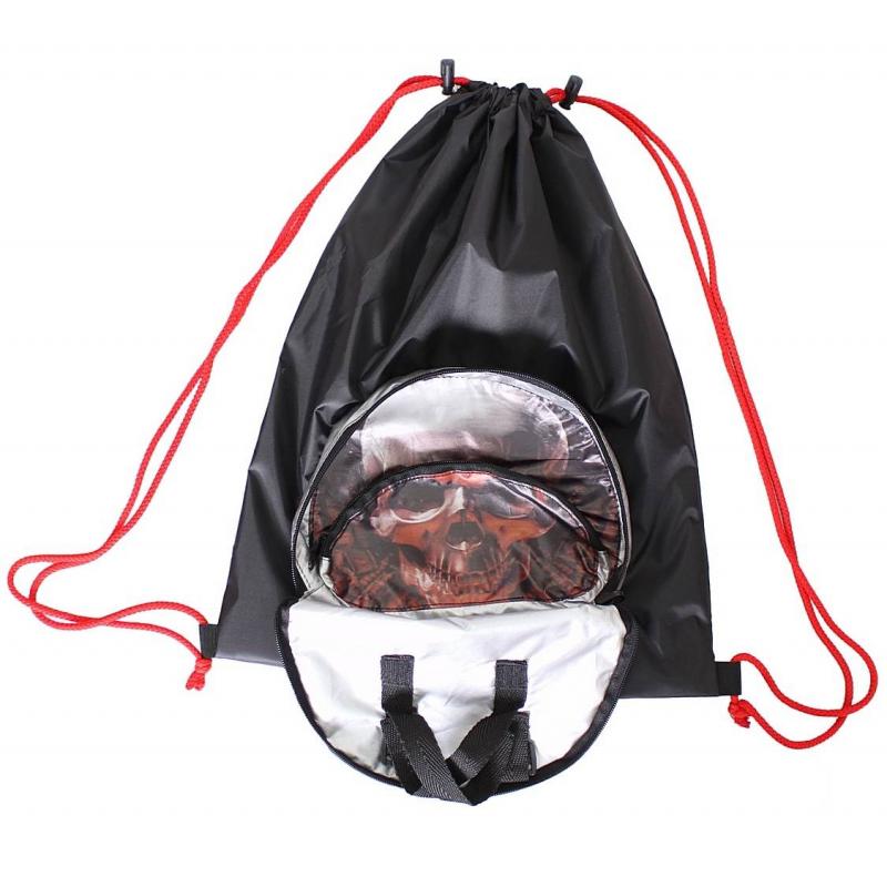 Мешок-рюкзак складной Череп