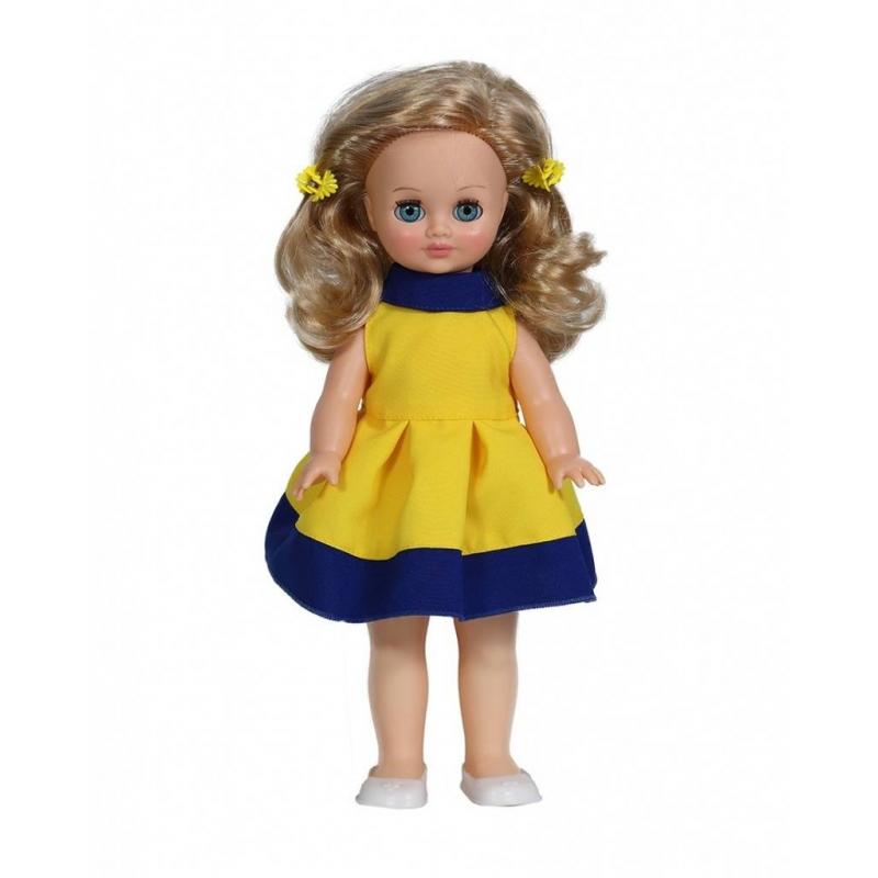 Кукла Герда 7 озвученнаяКуклаГерда 7(озвученная) серии Моя любимая кукла марки Весна.<br>Красивая и очаровательная кукла со звуковым модулем и закрывающимися глазами понравится любой девочке. Модельодета в яркое платье и милые туфельки. Элементы одежды легко снимаются и одеваются. Стоит нажать на куклу, как она сразу произносит разнообразные фразы. С такой игрушкойсюжетно-ролевые игры станут еще более интересными.<br>Механизм движения: нет.<br>Материал: винил, пластмасса.<br>Высота: 38 см.<br>Вес: 0,68 кг.<br>Рекомендовано для детей от 3 лет.<br><br>Возраст от: 3 года<br>Пол: Для девочки<br>Артикул: 658748<br>Бренд: Россия<br>Страна производитель: Россия<br>Размер: от 3 лет