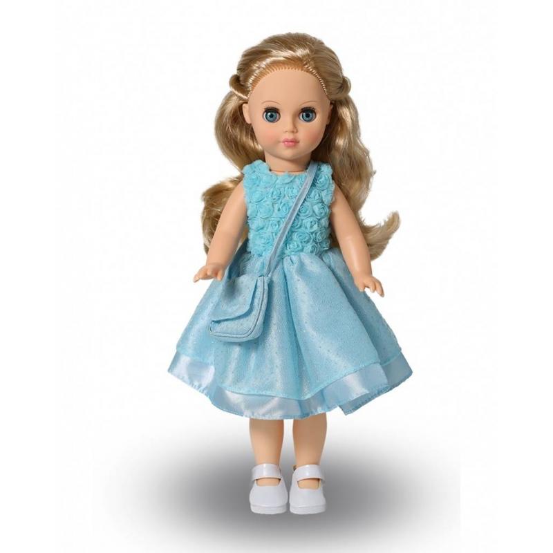 Кукла Мила 7КуклаМила 7 серии Моя любимая кукла марки Весна.<br>Красивая и очаровательная кукла сзакрывающимися глазами понравится любой девочке. Модельодета в яркое платье, а сумочка и туфли дополняют нежный образ.Элементы одежды легко снимаются и одеваются. С такой игрушкойсюжетно-ролевые игры станут еще более интересными.<br>Механизм движения: нет.<br>Материал: винил, пластмасса.<br>Высота: 38,5 см.<br>Вес: 0,66 кг.<br>Рекомендовано для детей от 3 лет.<br><br>Возраст от: 3 года<br>Пол: Для девочки<br>Артикул: 658757<br>Бренд: Россия<br>Страна производитель: Россия<br>Размер: от 3 лет
