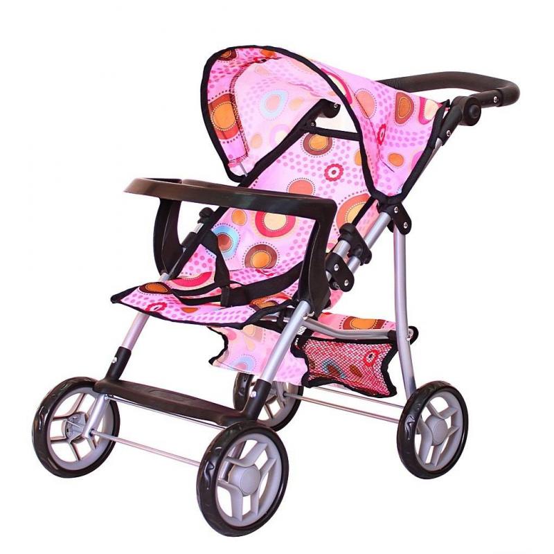Кукольная коляскаКукольная коляска марки RT для девочек.<br>Летняя складная коляска с ярким рисунком имеет поручень безопасности, столик с отверстием для бутылочки. Юная мама всегда сможет покормить куклу в долгой поездке. Модель с регулируемой ручкой - маленькая копия настоящей коляски для детей.<br>Нажимая на кнопки по бокам ручки, вы можете регулировать высоту. Юная мама будет легко и просто управлять этой коляской на дороге. Уникальные прорезиненные сверху колеса обеспечивают плавность и мягкость хода. И конечно же, эти колеса не гремят по дороге. Коляска легко складывается. В нижней части коляски - багажная корзинка для игрушек. Прочная, непромокаемая ткань.<br>Высота коляски: 57 см до капюшона;<br>Высота ручки: 50 - 62 см;<br>Размер коляски: 48х33х57 см;<br>Размер до сиденья: 25 см;<br>Высота ручки: 50/62 см;<br>Вес: 1,7 кг;<br>Размер упаковки: 31х16х51 см.<br><br>Возраст от: 3 года<br>Пол: Для девочки<br>Артикул: 650849<br>Бренд: Россия<br>Страна производитель: Китай<br>Размер: от 3 лет