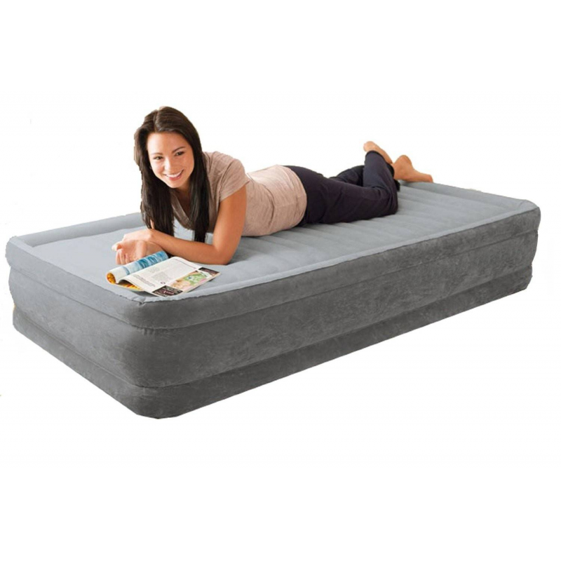 Intex Надувной матрас Comfort-Plush Elevated Airbed надувной матрас intex twin comfort 191x99x48cm насос 66946
