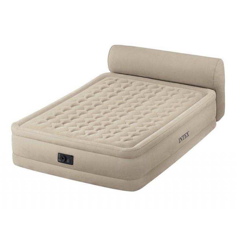 Intex Надувной матрас Headboard Bed надувной матрас intex 66950 downy bed 76х191х22см со встроенным ножным насосом