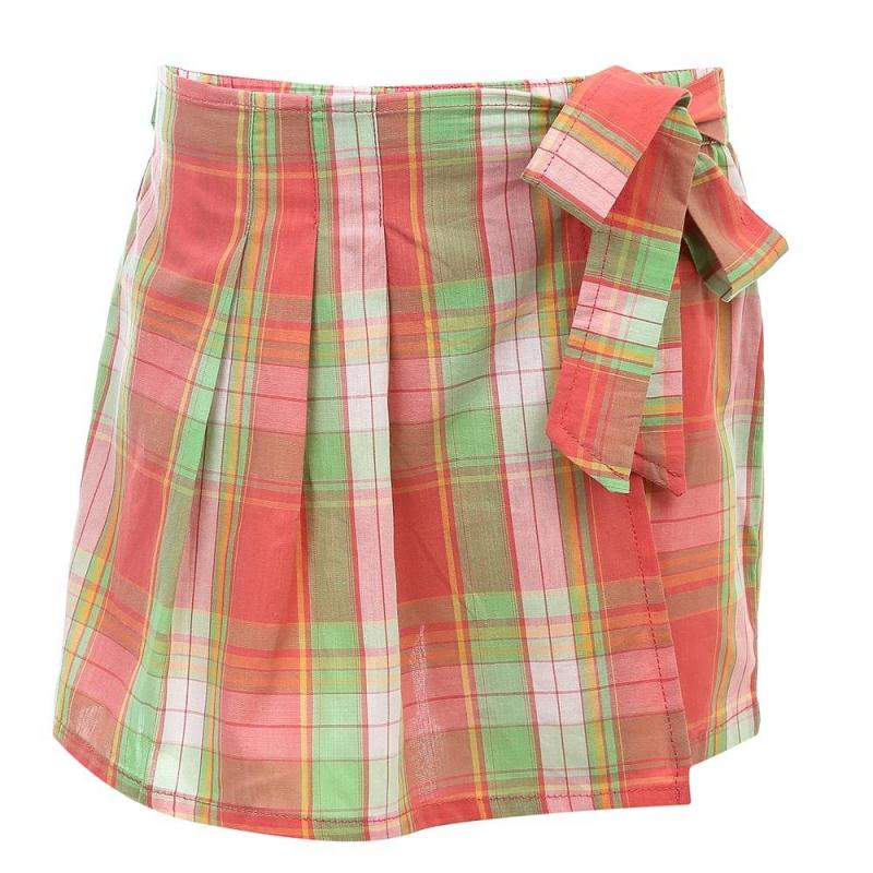 Юбка-шортыЮбка-шорты зеленого цвета из коллекции Time Flowers марки Sweet Berry.<br>Стильная юбка-шорты выполнена из натурального хлопка и украшена принтом в клетку. Модель с запахом завязывается на удобный бант.<br><br>Размер: 3 года<br>Цвет: Зеленый<br>Рост: 98<br>Пол: Для девочки<br>Артикул: 688582<br>Страна производитель: Китай<br>Сезон: Весна/Лето<br>Состав: 100% Хлопок<br>Бренд: Италия