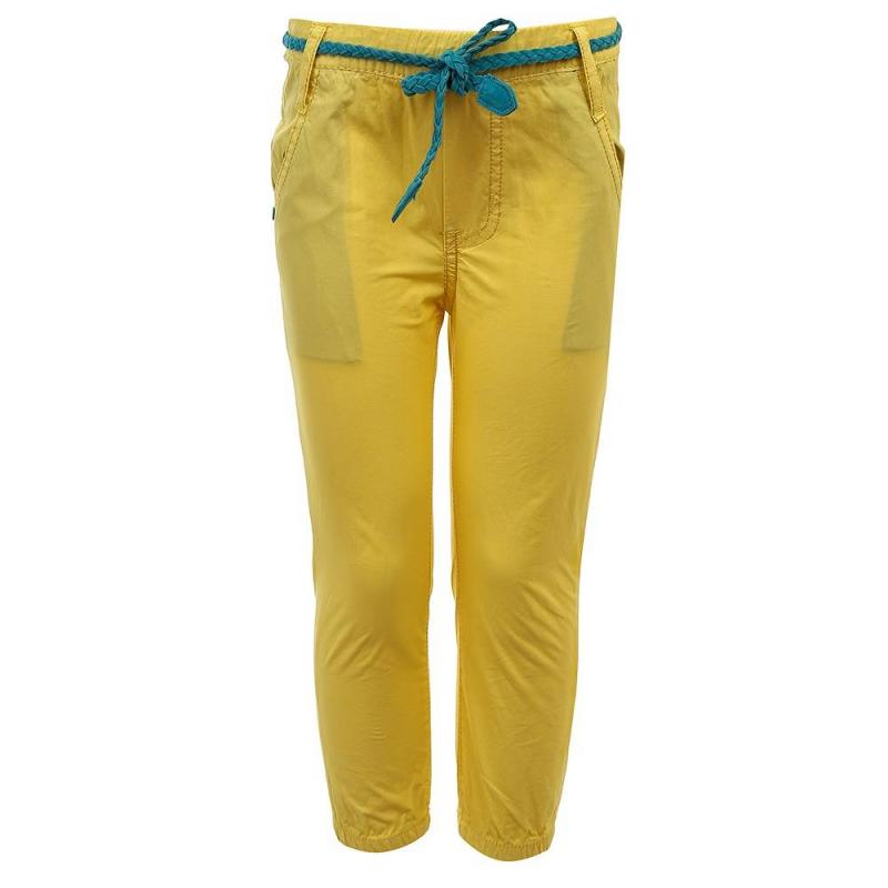БрюкиБрюки желтого цвета из коллекции Bloom Age марки Sweet Berry для девочек.<br>Стильные брюки выполнены из натурального хлопка. Модель декорирована плетеным поясом синего цвета и дополнена передними карманами. Пояс и манжеты на удобных эластичных резинках.<br><br>Размер: 3 года<br>Цвет: Желтый<br>Рост: 98<br>Пол: Для девочки<br>Артикул: 688341<br>Страна производитель: Китай<br>Сезон: Весна/Лето<br>Состав: 100% Хлопок<br>Бренд: Италия