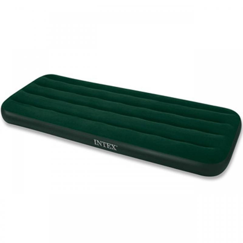 Надувной матрас PrestigeНадувной матрас Prestige зелёногоцвета марки Intex.<br>Надежный и удобный надувной матрас. Волнистая конструкция устраняет появление провалов и обеспечивает ровную, однородную поверхность для комфортного отдыха. Ворсистое покрытие мягкое и очень приятное на ощупь. Ворс легко чистится, и не пропускает воду.<br>Модель оснащена насосом на батарейках.<br><br>Цвет: Зеленый<br>Размер матраса: 137х191х22<br>Пол: Не указан<br>Артикул: 682455<br>Бренд: Китай<br>Размер: Без размера