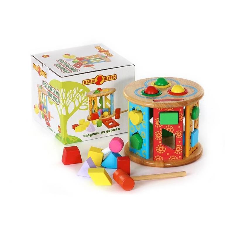 Развивающая игрушка Логический цилиндрРазвивающая игрушка Логическийцилиндр марки Папа Карло.<br>Логическая игрушка выполнена из дерева в видекрасочного цилиндра с отверстиями различных форм. К каждому отверстию есть своя деталь. Все элементы безопасны для ребенка, так как покрыты безвредной краской.<br>Размер:18х16х17,5 см.<br>Рекомендовано для детей от 12 месяцев.<br><br>Возраст от: 12 месяцев<br>Пол: Не указан<br>Артикул: 660147<br>Бренд: Россия<br>Страна производитель: Россия<br>Размер: от 12 месяцев
