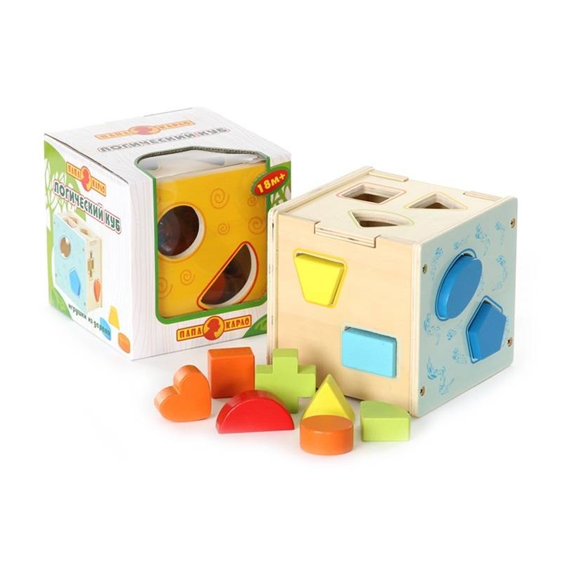 Папа Карло Развивающая игрушка Логический куб