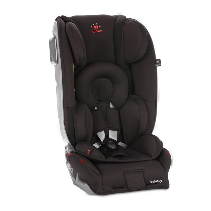 Автокресло Radian 5 Midnight BlackАвтокресло Radian 5 Midnight Black чёрного цвета марки Diono.<br>Детское автокресло Radian 5 Midnight Black необыкновенно удобно в использовании.Пока ребёнок ещё не умеет сидеть, его можно устроитьпротив движения автомобиля, а впоследствии вы можете продолжать использовать кресло, посадив его лицом по направлению движения. Благодаря такой гибкости, кресло подходит не только для новорождённых, но и для детей постарше.<br>Характеристики:<br>- Использование 5-точечных ремней безопасности до 25 кг (обычно до 18 кг);<br>- Основание каркаса из легированной стали, чаша - литой ударопрочный пластик;<br>- Боковины и подголовник, армированные металлом;<br>- EPP (пенополипропилен) в качестве абсорбирующего материала в боковинах и подголовнике;<br>- Мягкий моющийся (30°) чехол с наполнением «memory foam»;<br>- Регулируемая ширина сиденья;<br>- 12 положений регулировки подголовника;<br>- 5 положений высоты ремней;<br>- 2 положения ремня с замком;<br>- Чаша складывается для транспортировки;<br>- Возможность установки до 4-х подстаканников;<br>- Компактный размер: установка до 3-х кресел на заднем сиденье.<br>Комплектация:<br>- 1 x комплект накладок на ремни для новорожденных,-1 x комплект накладок на ремни для подросших детей,-1 x мягкая вставка под замок,-1 x ремень Safe Stop,-1 x якорный ремень,-1 x удлинитель якорного ремня,-1 x база для установки против хода движения,-1 x защитная панель для установки кресла на переднем сиденье против хода движения,-1 x вставка для новорожденных,-1 x подстаканник.<br>Размер: 75 х 46 х 46см.Вес: 15.1кг.<br>Модель предназначена для ребенка весом до 25 кг.<br>Рекомендовано для детей с рождения и до 7 лет.<br><br>Цвет: Черный<br>Возраст от: 0 месяцев<br>Пол: Не указан<br>Артикул: 695113<br>Бренд: США<br>Вес: 15,1 кг.<br>Размер: от 0 месяцев<br>Способ установки: По ходу/против хода<br>Способ крепления: Якорный ремень V-Tether/Top Tether<br>Регулировка наклона спинки: Нет<br>Ремни безопасности: Пятиточечные
